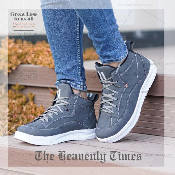 کفش ساقدار مردانه مدل Felz (طوسی)
