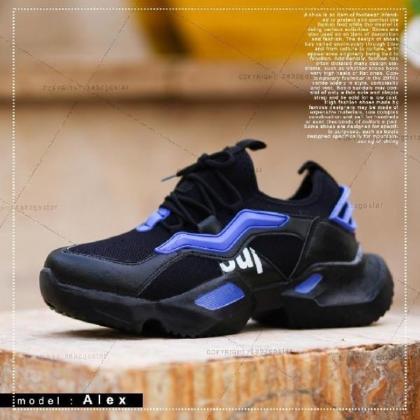 کفش مردانه مدل Alex (مشکی،آبی)