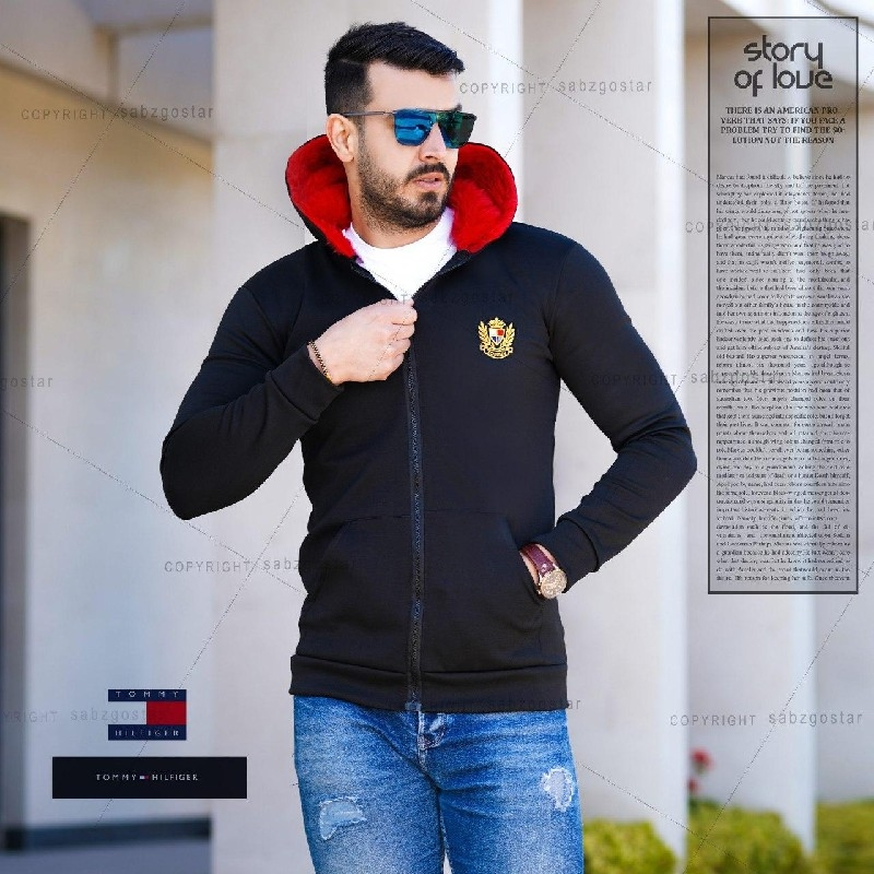 سویشرت مردانه کلاه خز Jalinos